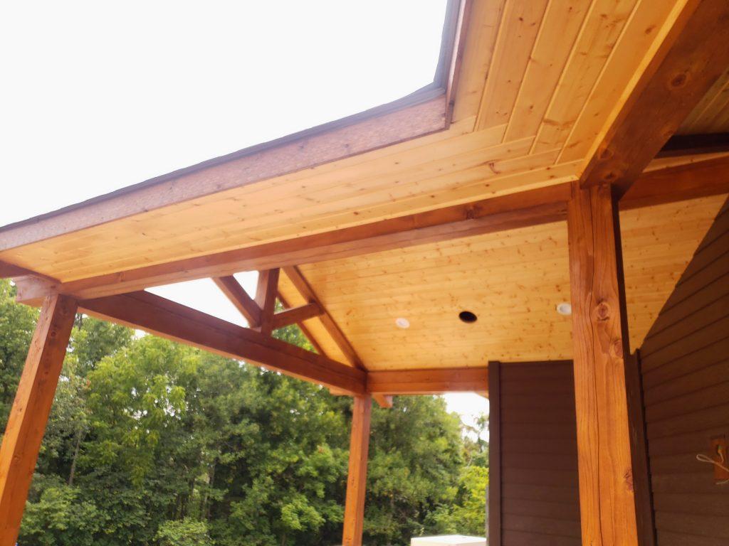 Framing Job of Cedar timber at Mountain Home